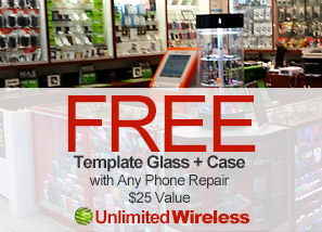 Free, Case & Screen Protector with Any Repair